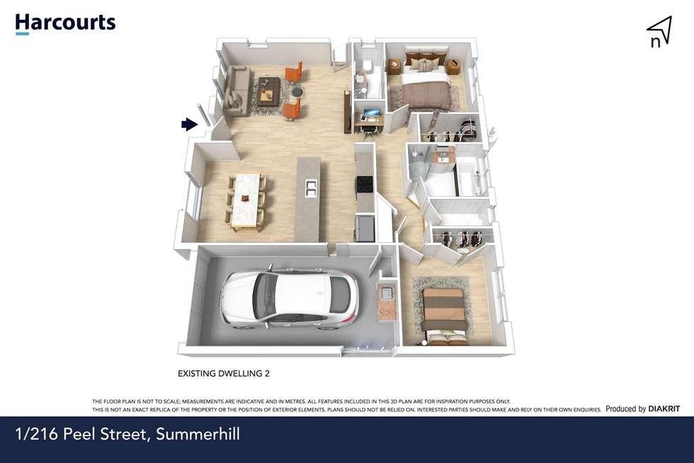 Floorplan of Homely unit listing, 1/216 Peel Street West, Summerhill TAS 7250
