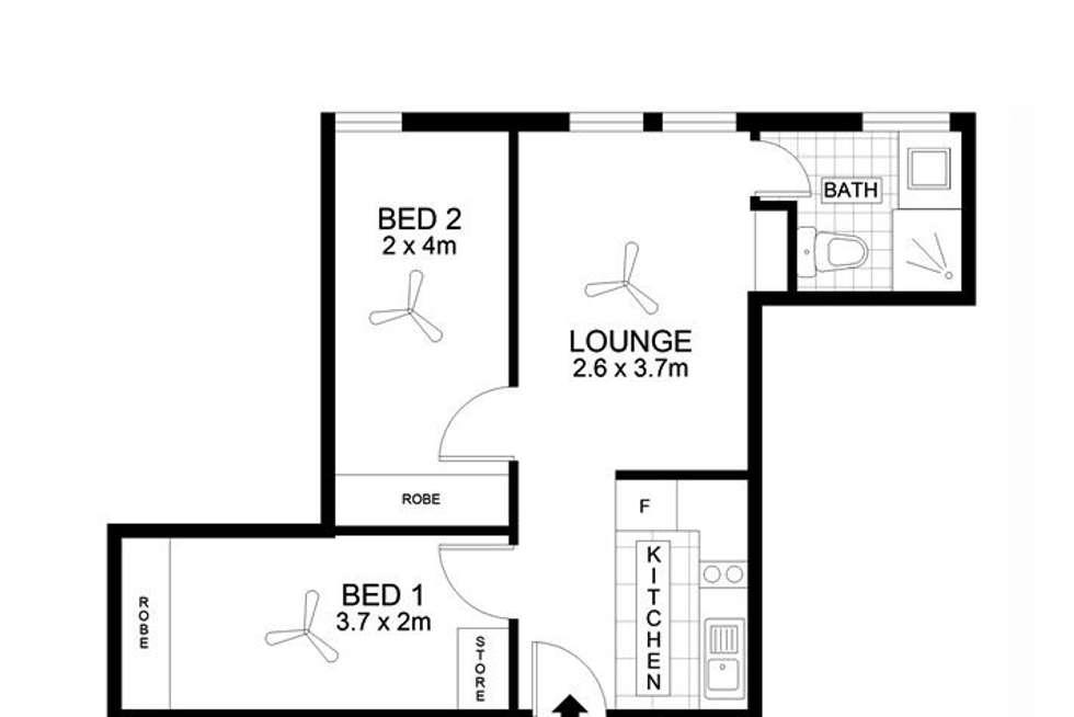 Floorplan of Homely apartment listing, 201/23 King William Street, Adelaide SA 5000