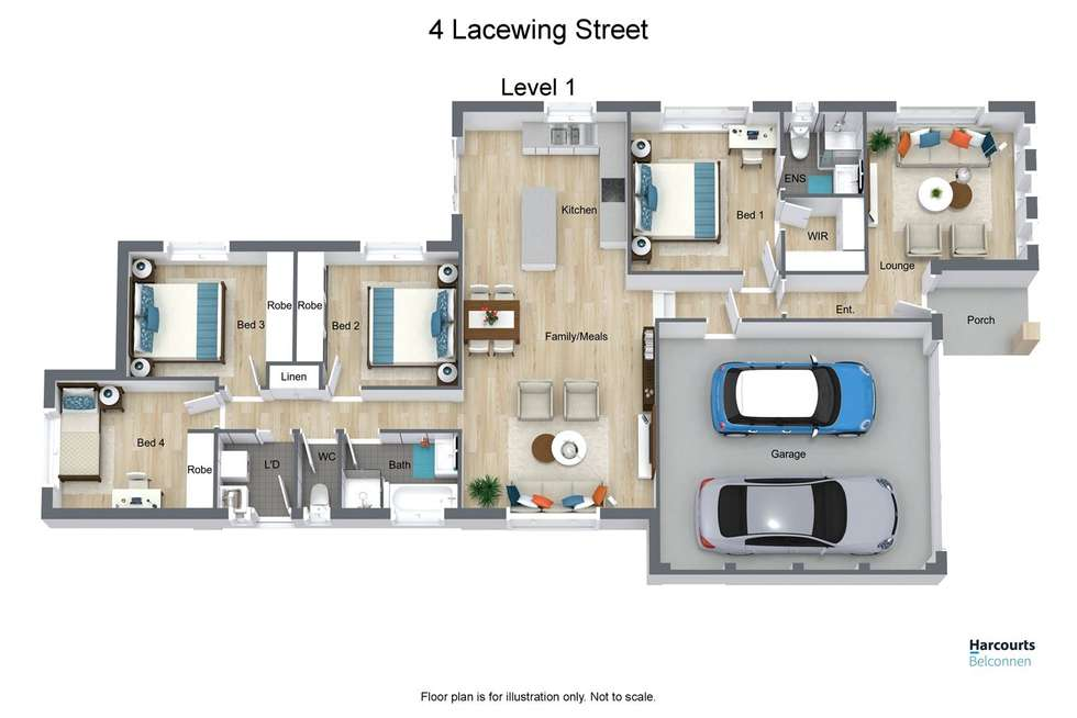 Floorplan of Homely house listing, 4 Lacewing Street, Wright ACT 2611