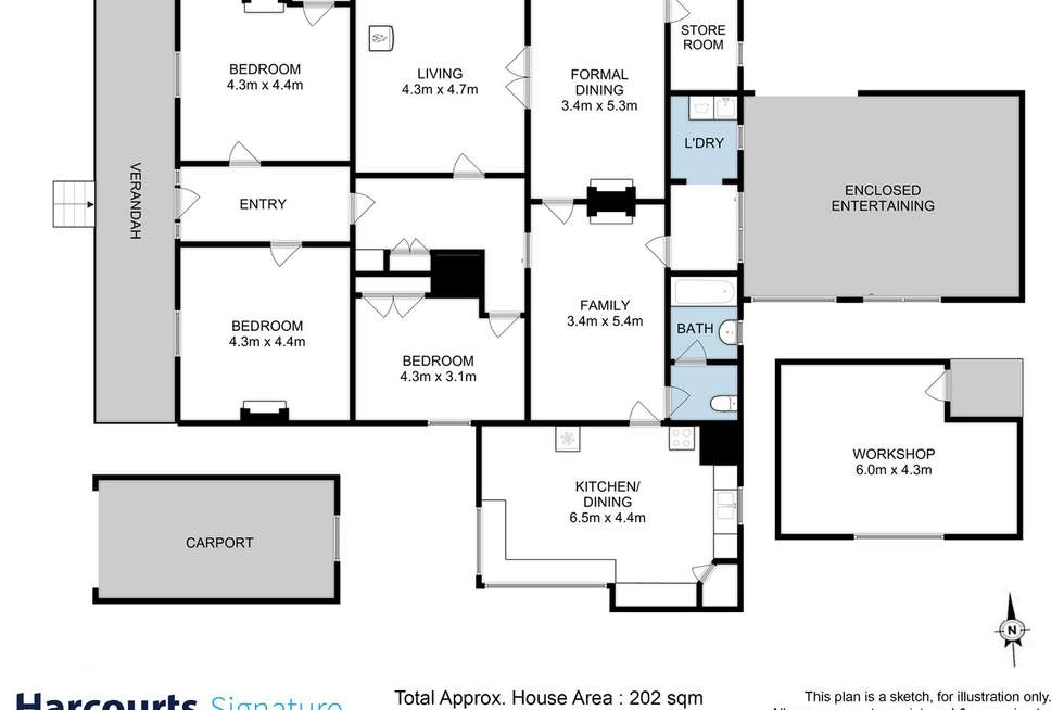 Floorplan of Homely house listing, 440 Prossers Road, Richmond TAS 7025