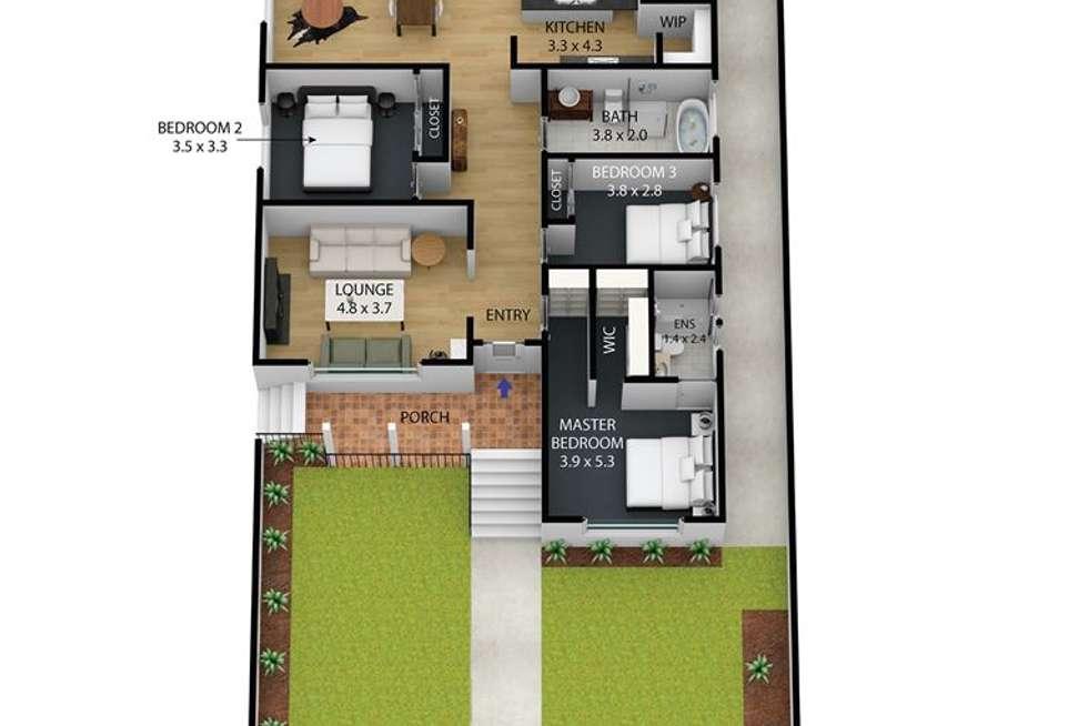 Floorplan of Homely house listing, 1/69 St Vigeons Road, Reservoir VIC 3073