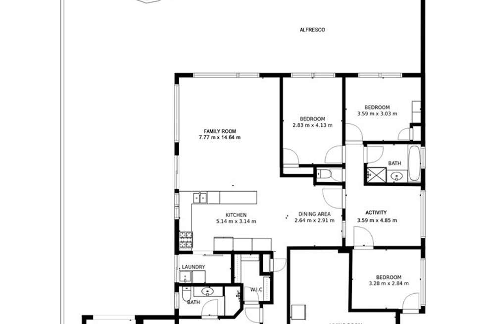 Floorplan of Homely house listing, 56 Caledonia Avenue, Currambine WA 6028