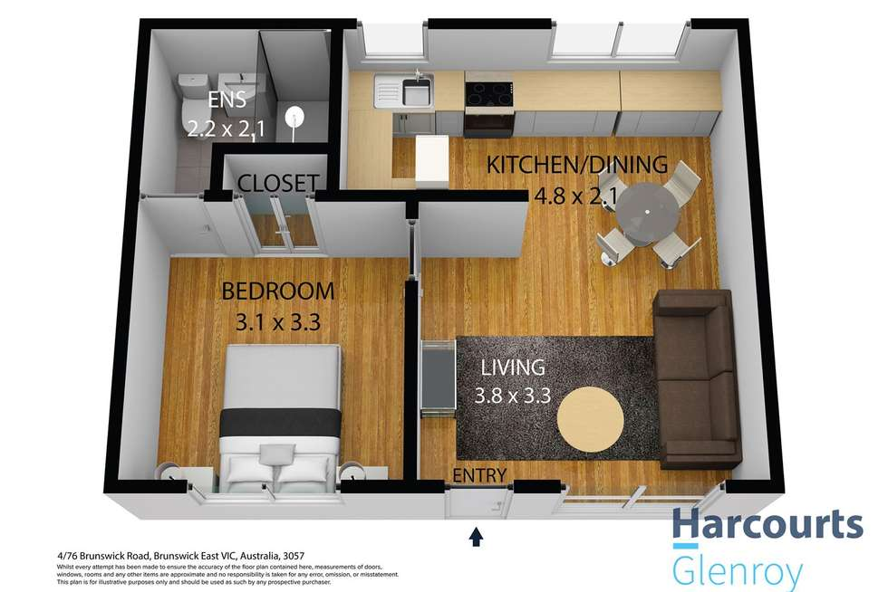 Floorplan of Homely apartment listing, 4/76 Brunswick Road, Brunswick East VIC 3057
