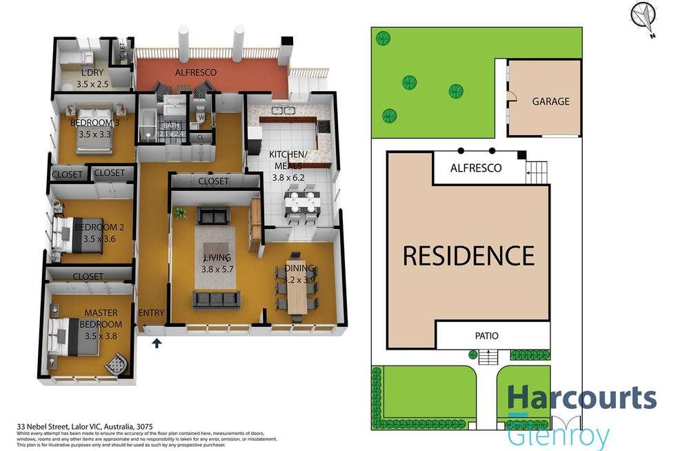 Floorplan of Homely house listing, 33 Nebel Street, Lalor VIC 3075