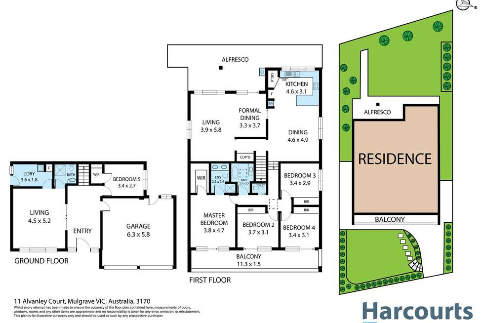 Floorplan of Homely house listing, 11 Alvanley Court, Mulgrave VIC 3170