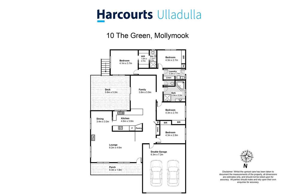 Floorplan of Homely house listing, 10 The Green, Mollymook NSW 2539