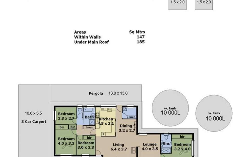 Floorplan of Homely house listing, 11 Totness Road, Totness SA 5250