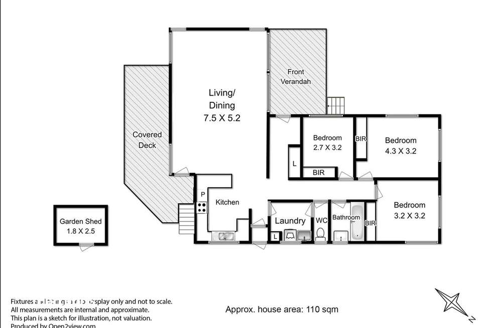 Floorplan of Homely house listing, 1/88 Main Street, Huonville TAS 7109