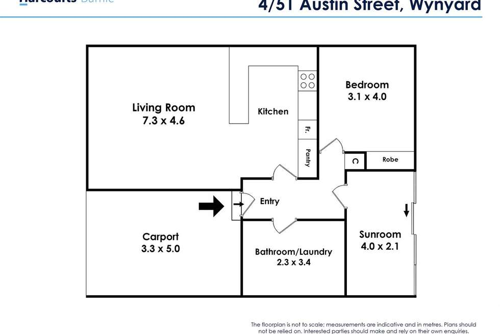 Floorplan of Homely unit listing, 4/51 Austin Street, Wynyard TAS 7325