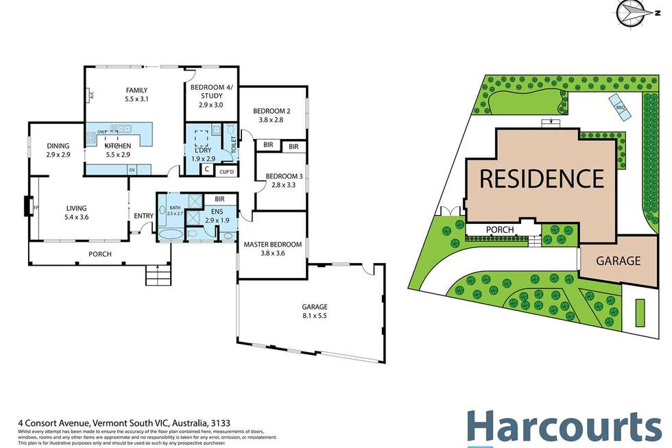 Floorplan of Homely house listing, 4 Consort Ave, Vermont South VIC 3133