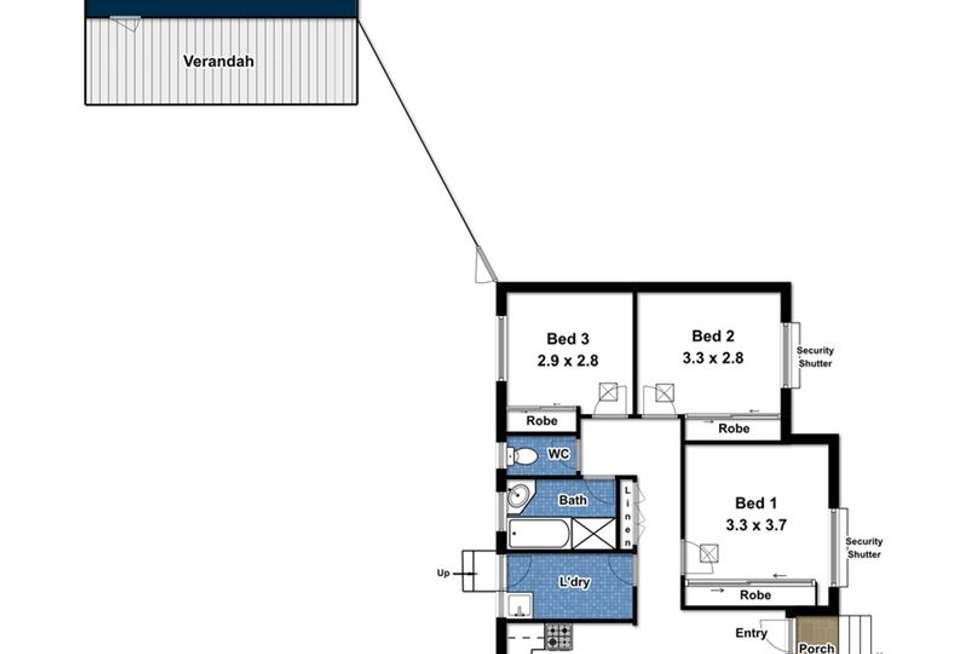 Floorplan of Homely house listing, 22 Bertrand Street, Morphett Vale SA 5162