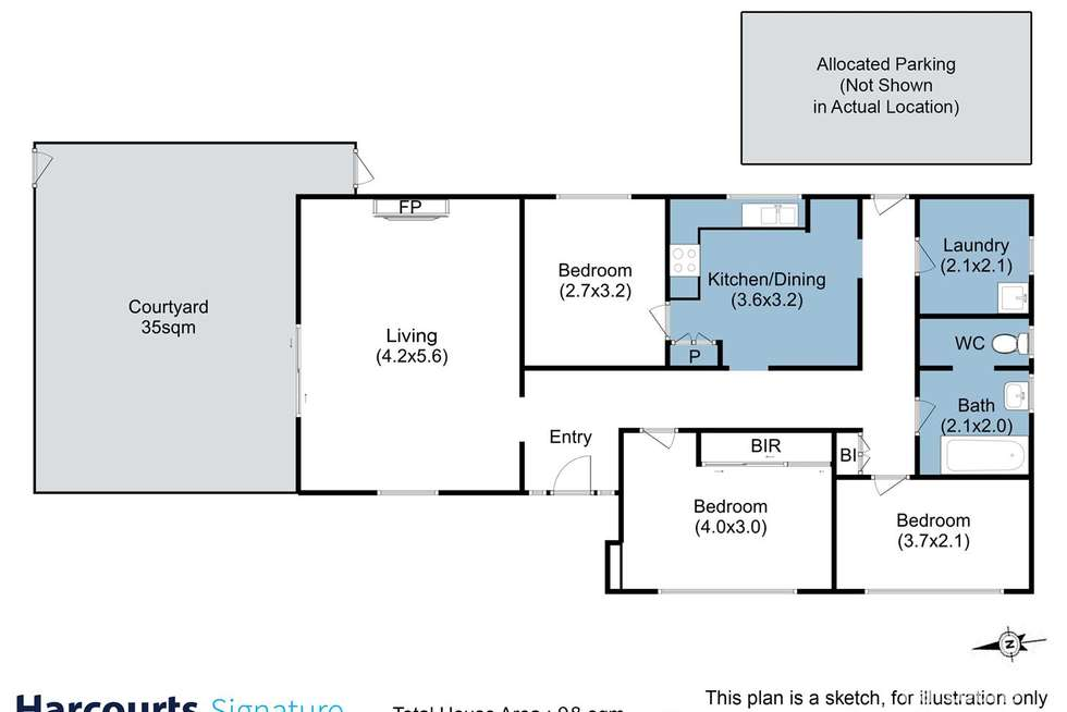 Floorplan of Homely house listing, 37 Garden Road, Moonah TAS 7009