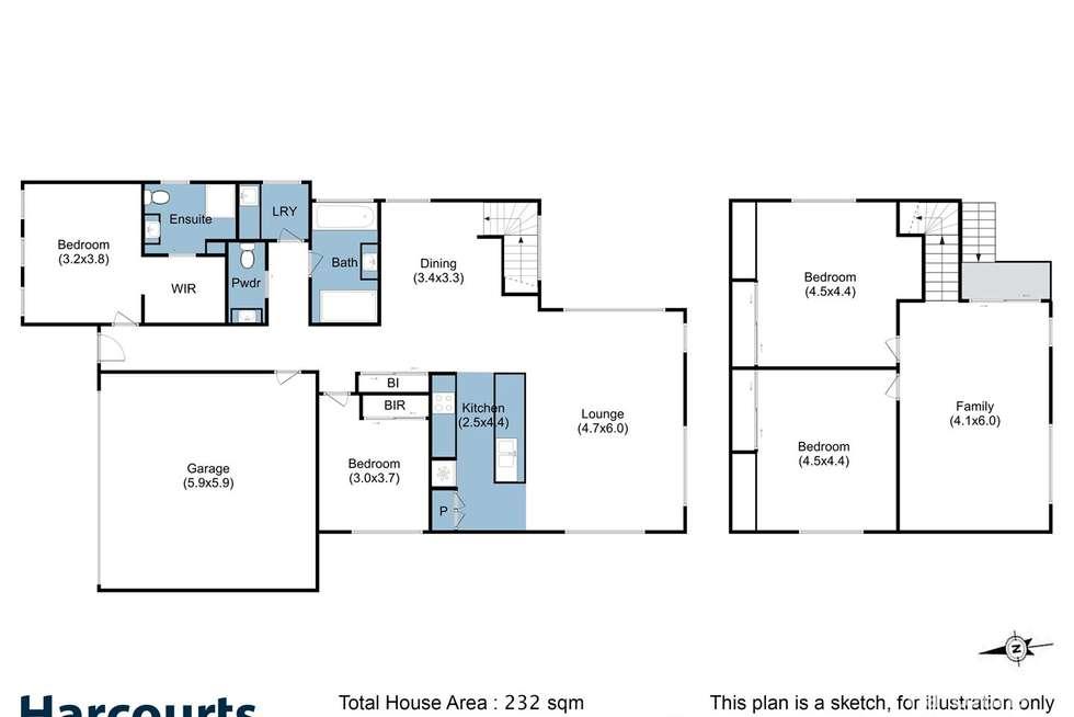 Floorplan of Homely house listing, 37a Garden Road, Moonah TAS 7009