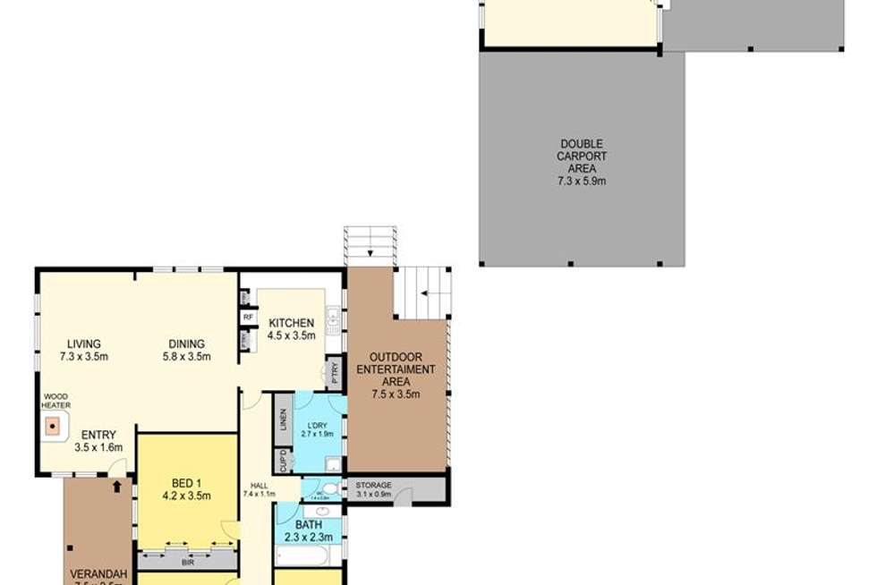 Floorplan of Homely house listing, 40 Woodlands Road, Lal Lal VIC 3352