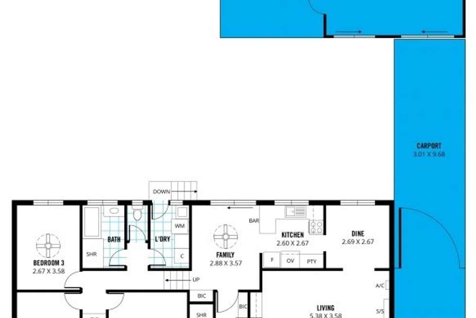 Floorplan of Homely house listing, 1 Oakridge Close, Aberfoyle Park SA 5159