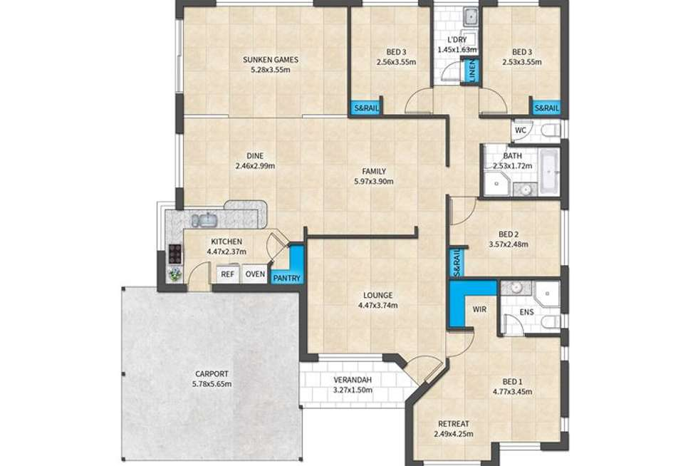 Floorplan of Homely house listing, 15 Lochmaben Retreat, Kinross WA 6028