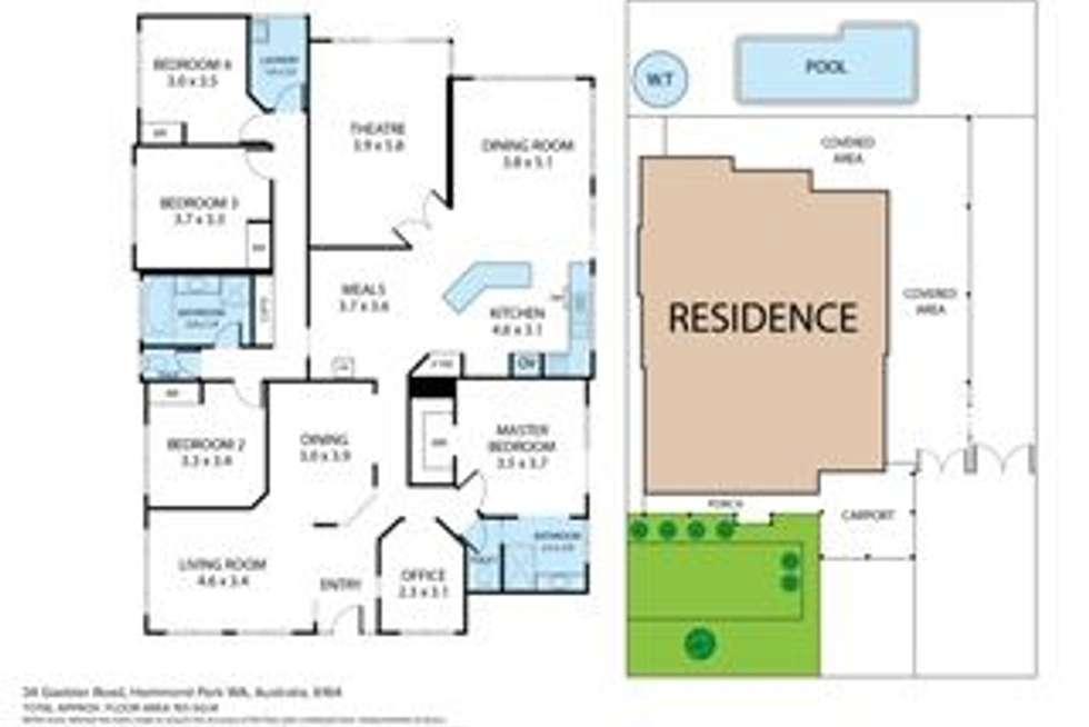 Floorplan of Homely house listing, 34 Gaebler Road, Hammond Park WA 6164