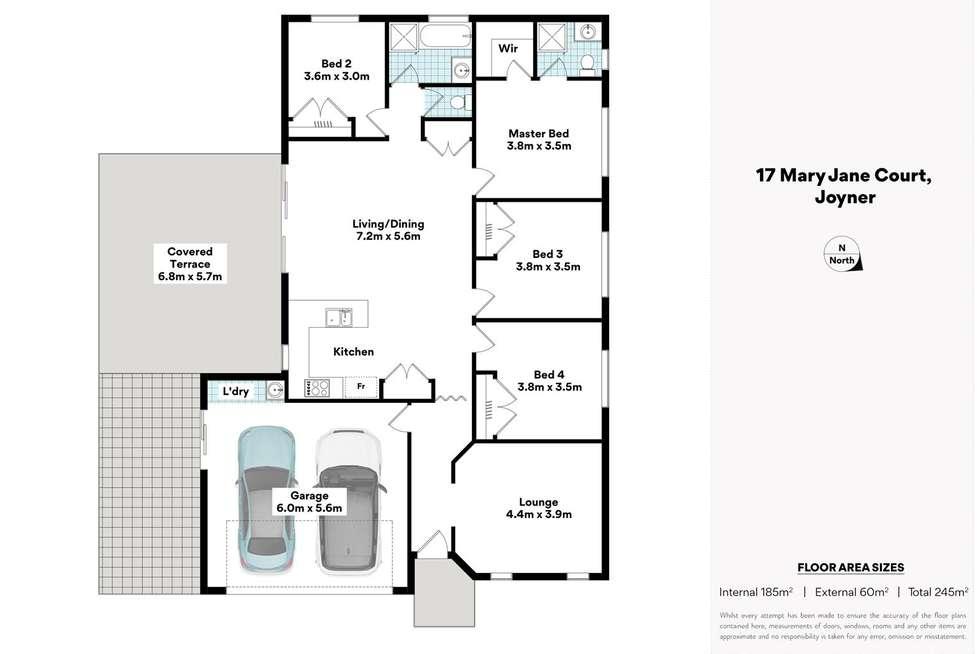 Floorplan of Homely house listing, 17 Mary Jane Ct, Joyner QLD 4500