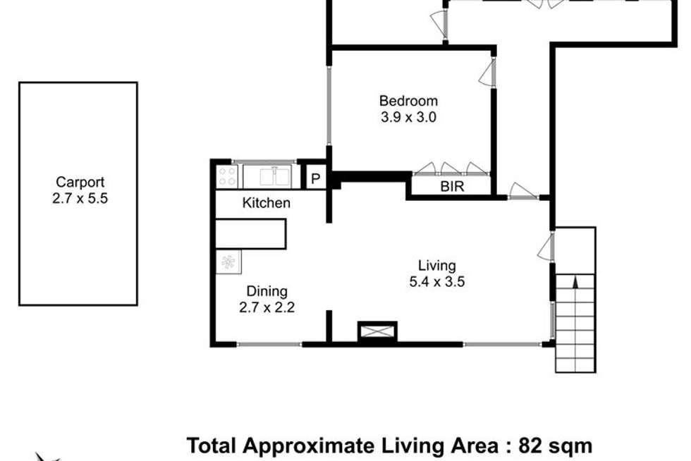Floorplan of Homely flat listing, 1/16a Coleman Street, Moonah TAS 7009