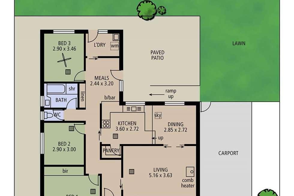 Floorplan of Homely house listing, 36 Golflands View, Morphett Vale SA 5162