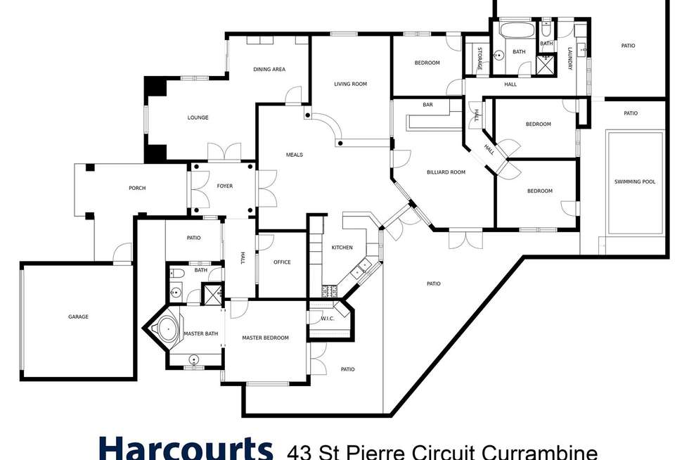 Floorplan of Homely house listing, 43 St Pierre Circuit, Currambine WA 6028