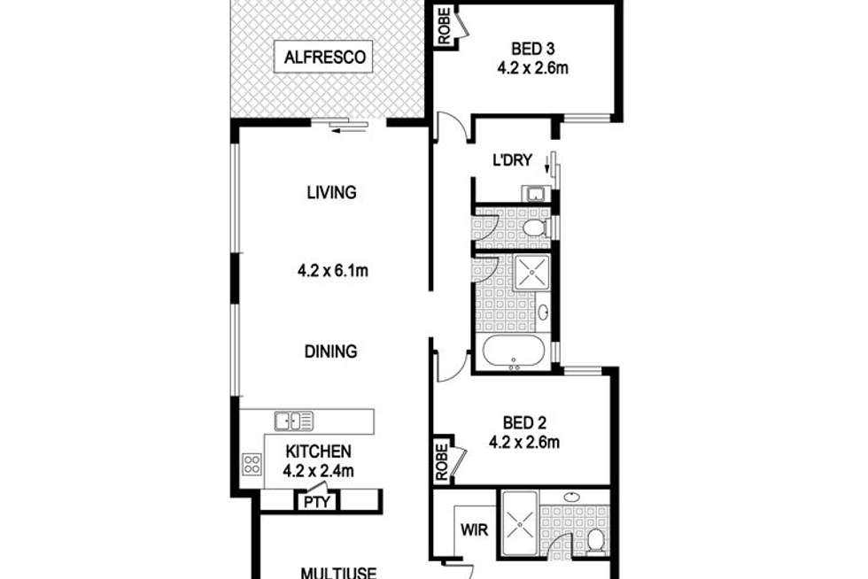 Floorplan of Homely house listing, 18 Weetman Road, Hammond Park WA 6164