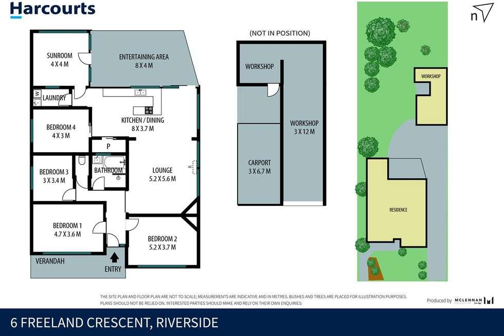 Floorplan of Homely house listing, 6 Freeland Crescent, Riverside TAS 7250