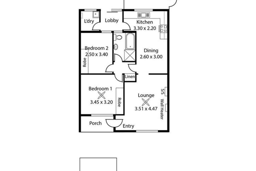 Floorplan of Homely unit listing, 9/3A Wattle Avenue, Royal Park SA 5014