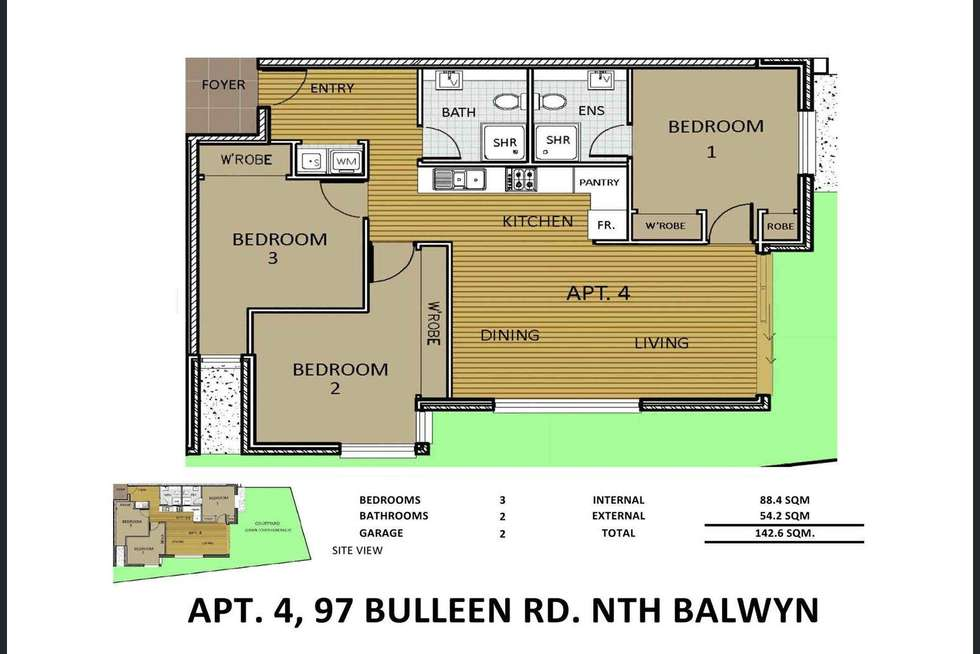 Floorplan of Homely apartment listing, 4/97 Bulleen Road, Balwyn North VIC 3104