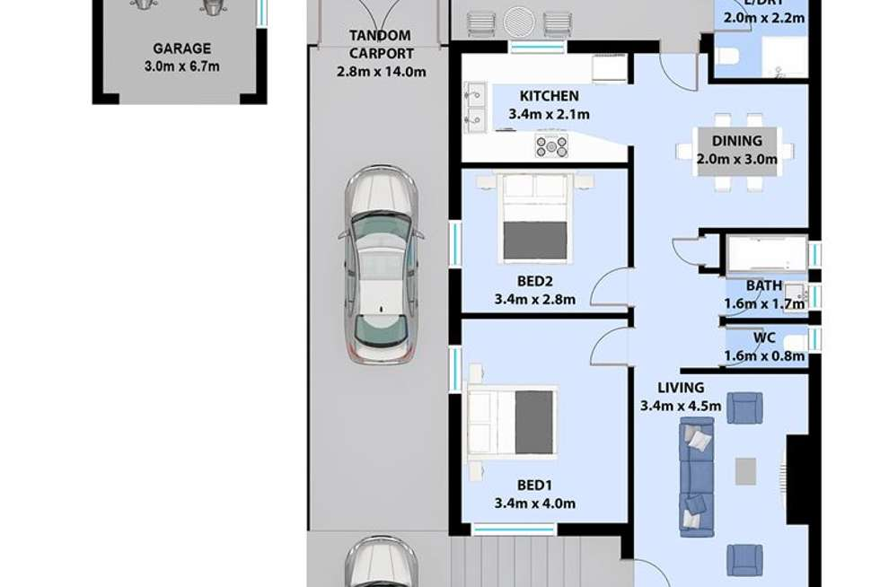 Floorplan of Homely house listing, 182 Flagstaff Road, Lake Heights NSW 2502