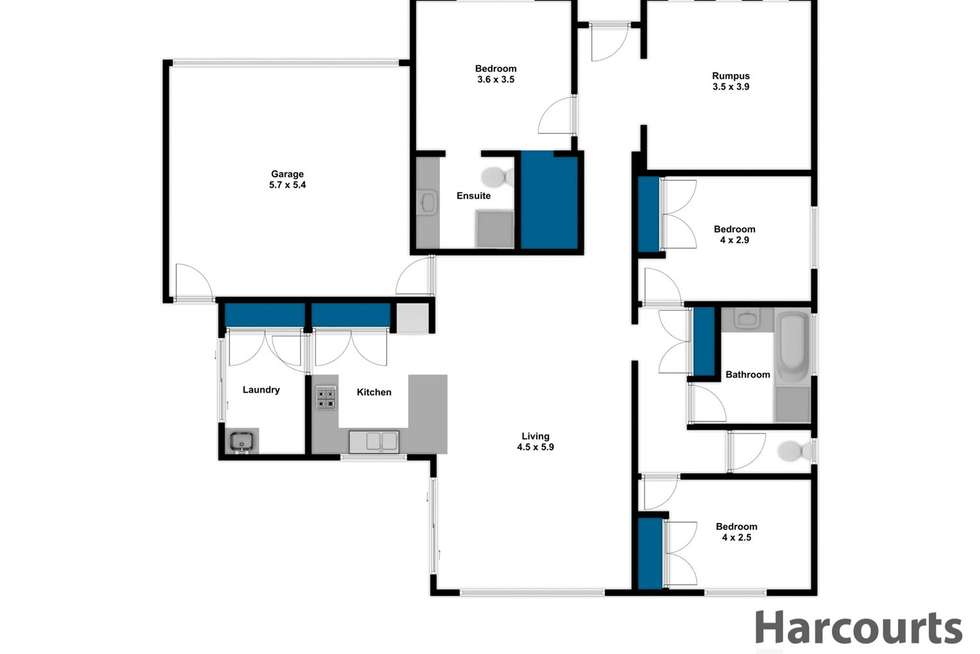 Floorplan of Homely house listing, 40 Woodlawn Boulevard, Yarragon VIC 3823