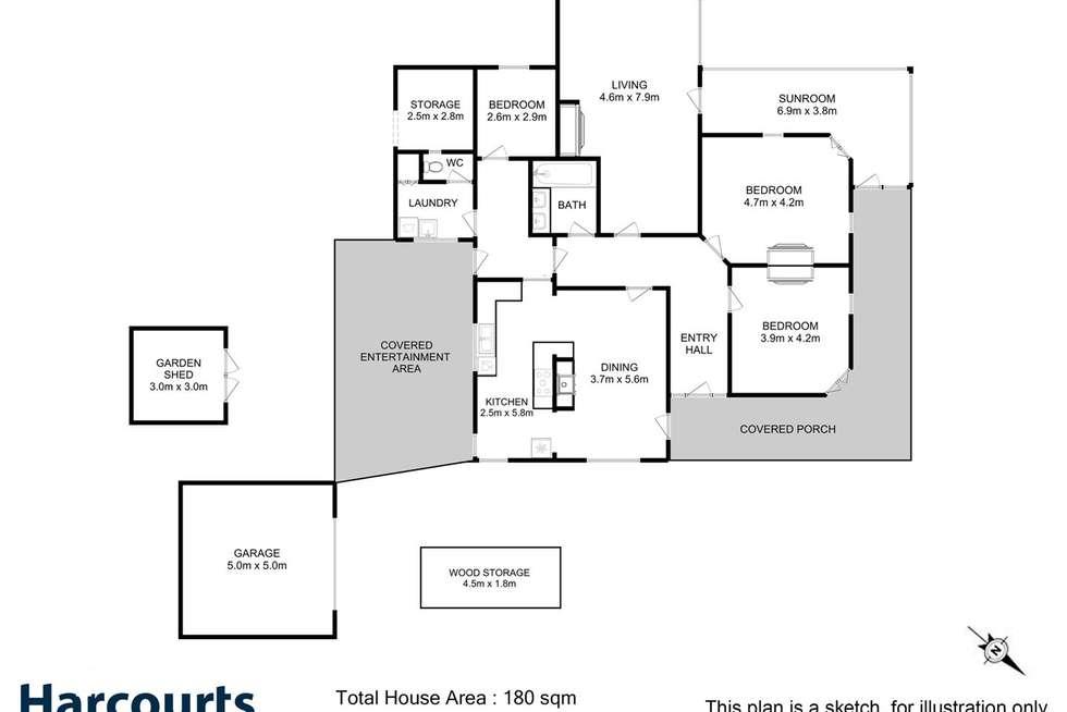 Floorplan of Homely house listing, 170 Main Street, Huonville TAS 7109