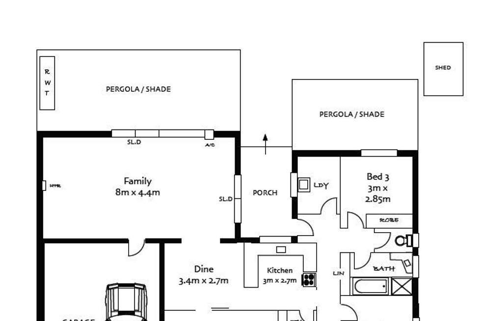 Floorplan of Homely house listing, 13 Beaufort Crescent, Felixstow SA 5070