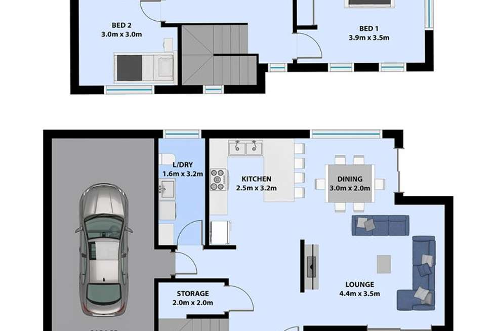 Floorplan of Homely townhouse listing, 4a Bruce Road, Warrawong NSW 2502