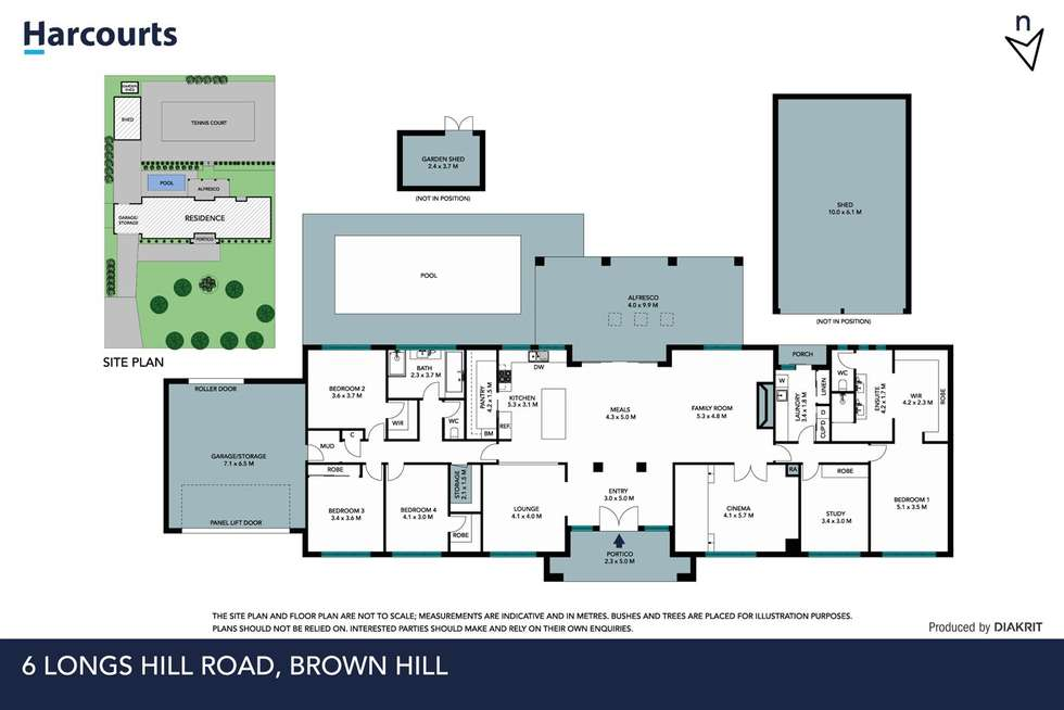 Floorplan of Homely house listing, 6 Longs Hill Road, Brown Hill VIC 3350