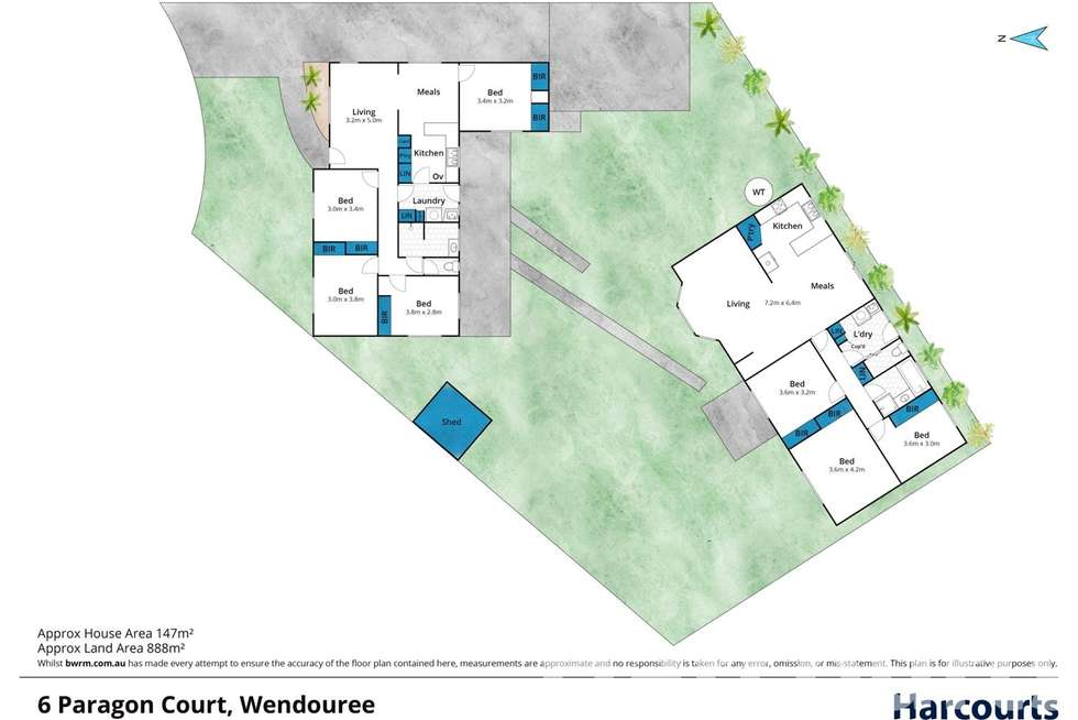 Floorplan of Homely house listing, 6 Paragon Court, Wendouree VIC 3355