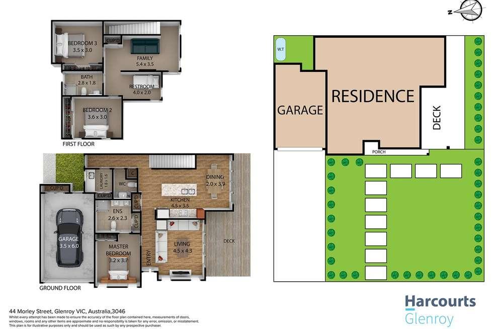 Floorplan of Homely townhouse listing, 44 Morley Street, Glenroy VIC 3046