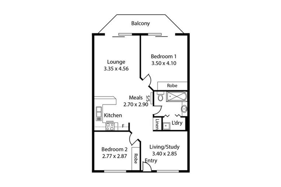 Floorplan of Homely apartment listing, 34/81 Carrington Street, Adelaide SA 5000