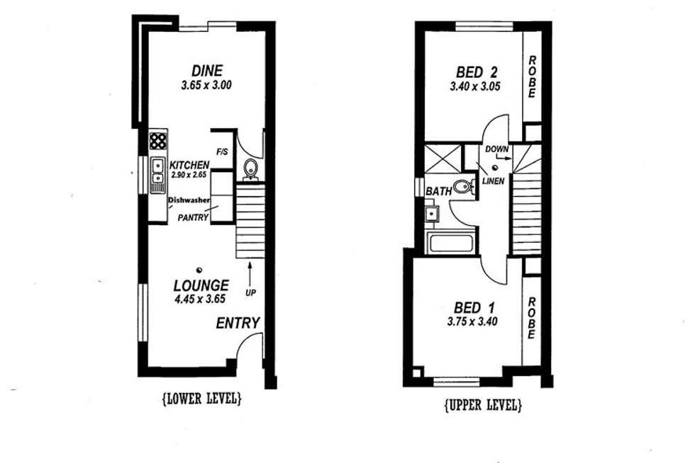 Floorplan of Homely townhouse listing, 1/18 Grazing Avenue, Morphett Vale SA 5162