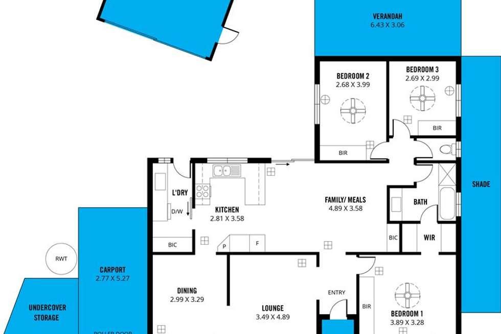 Floorplan of Homely house listing, 2A Redcraze Street, Aberfoyle Park SA 5159