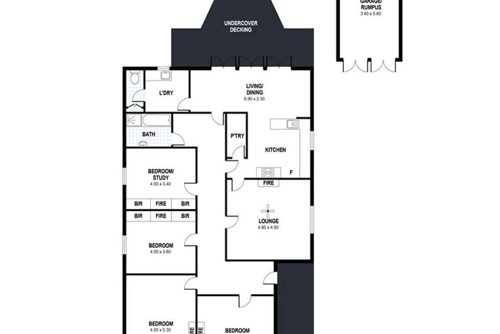 Floorplan of Homely house listing, 12 Cornhill Road, Victor Harbor SA 5211