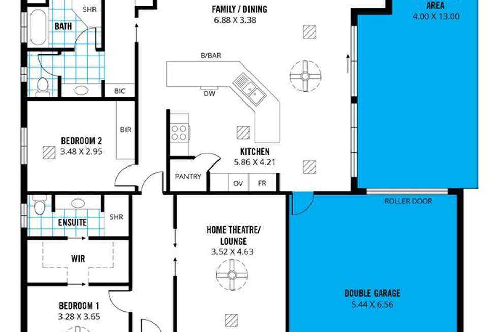 Floorplan of Homely house listing, 51 Nickel Drive, Aberfoyle Park SA 5159