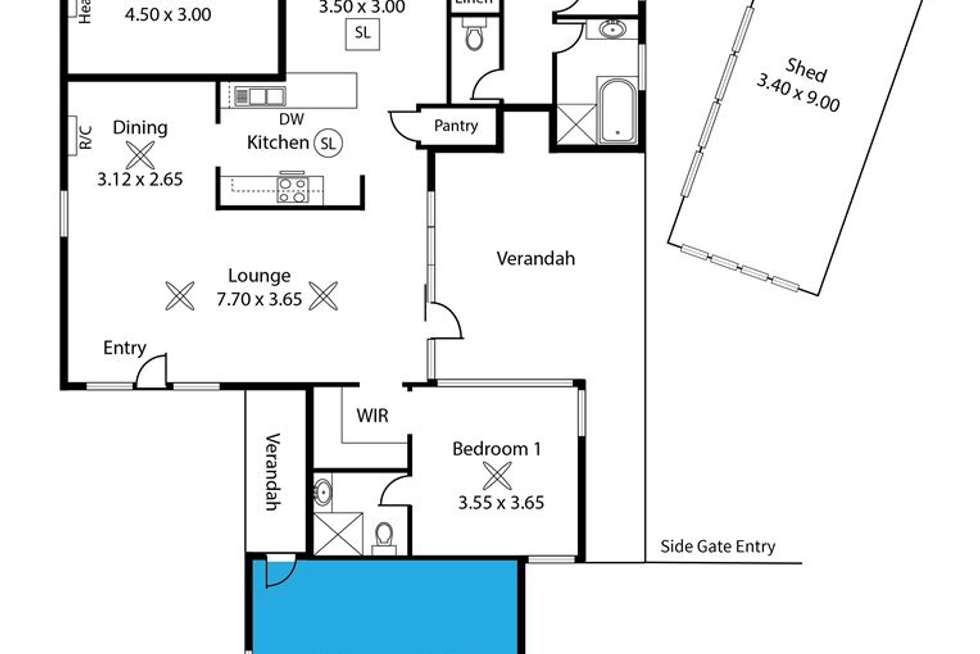 Floorplan of Homely house listing, 198 Milne Road, Modbury Heights SA 5092