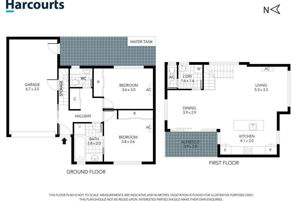 Floorplan of Homely townhouse listing, 4 Portofino Close, Mooroolbark VIC 3138