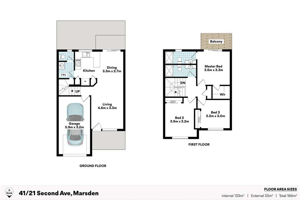 Floorplan of Homely townhouse listing, 41/21 Second Avenue, Marsden QLD 4132