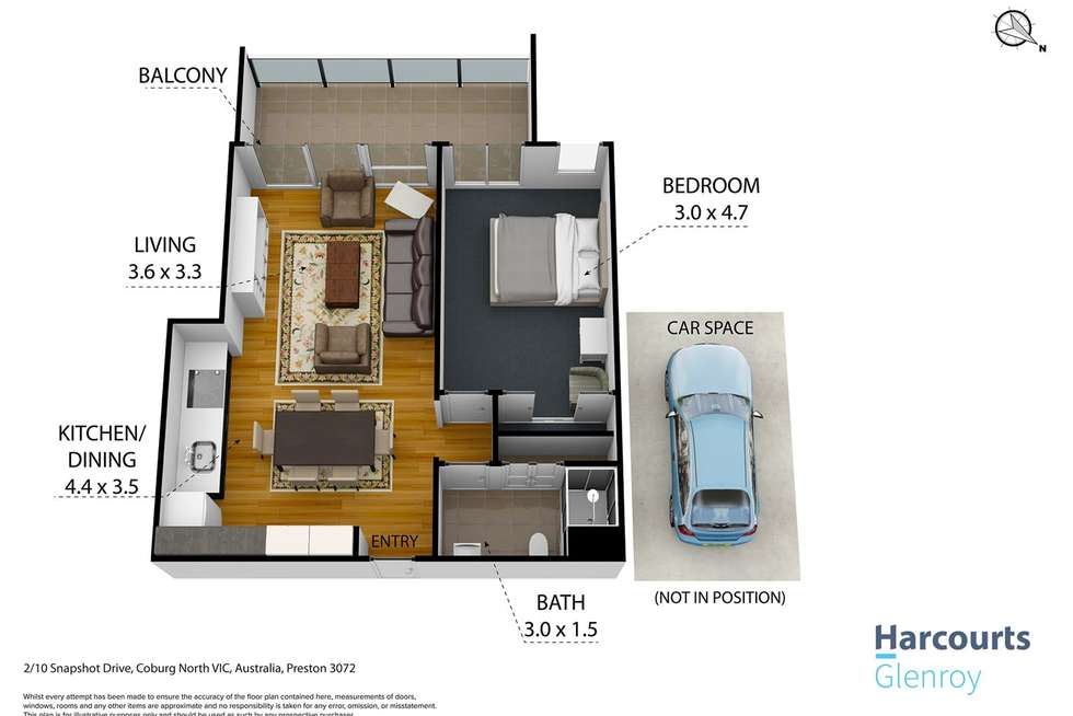 Floorplan of Homely apartment listing, 2/10 Snapshot Drive, Coburg North VIC 3058