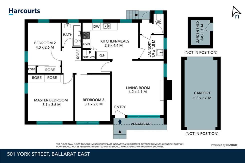 Floorplan of Homely house listing, 501 York Street, Ballarat East VIC 3350