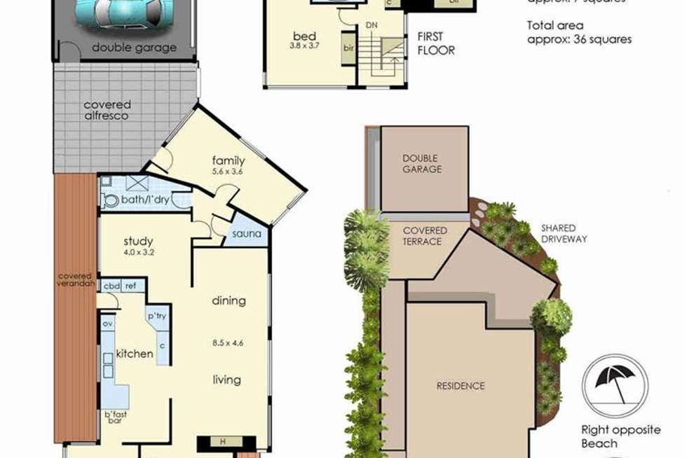 Floorplan of Homely house listing, 230 Nepean Highway, Seaford VIC 3198