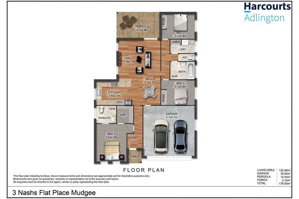 Floorplan of Homely house listing, 3 Nashs Flat Place, Mudgee NSW 2850