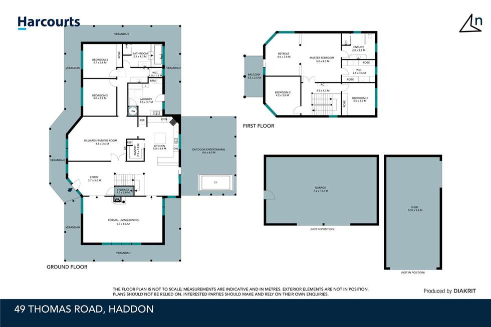 Floorplan of Homely house listing, 49 Thomas Road, Haddon VIC 3351